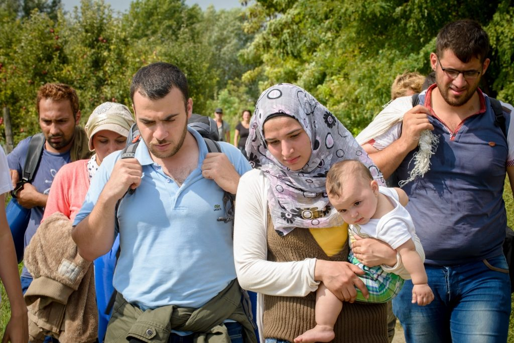 Refugees looking for a new home