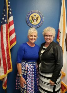 Volunteer advocate meets with representative