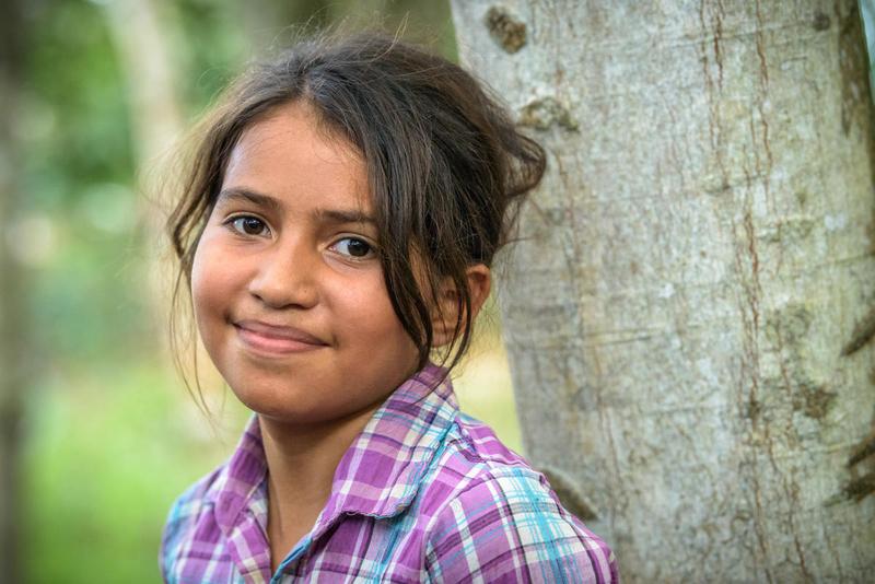 Girl in Central America