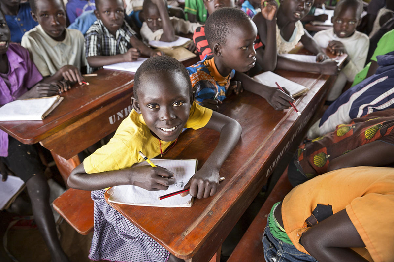 South Sudan refugee children