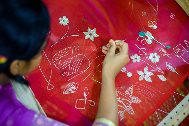 Moms in Bangladesh make beautiful embroidery.