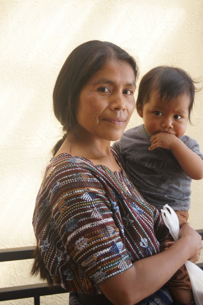 Guatemalan woman and child