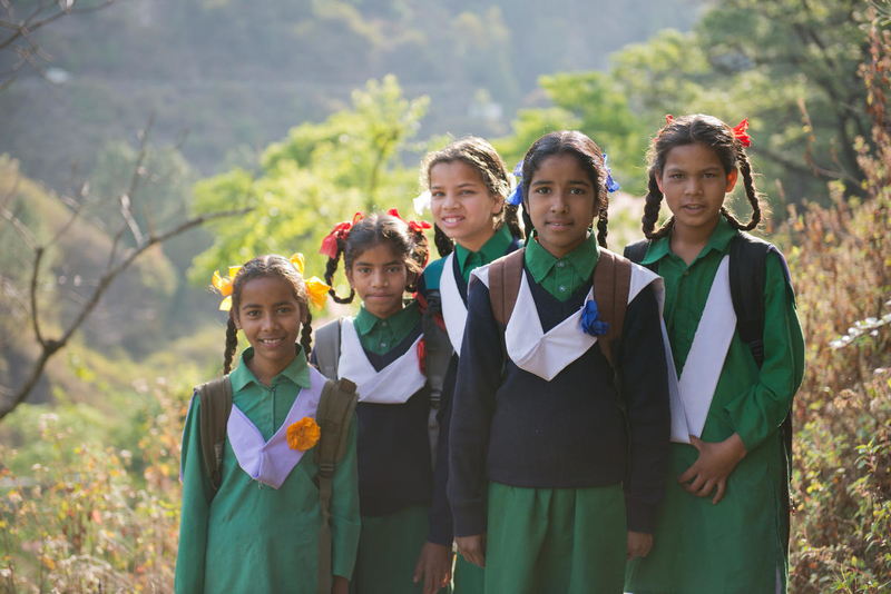 Traveling to school in India