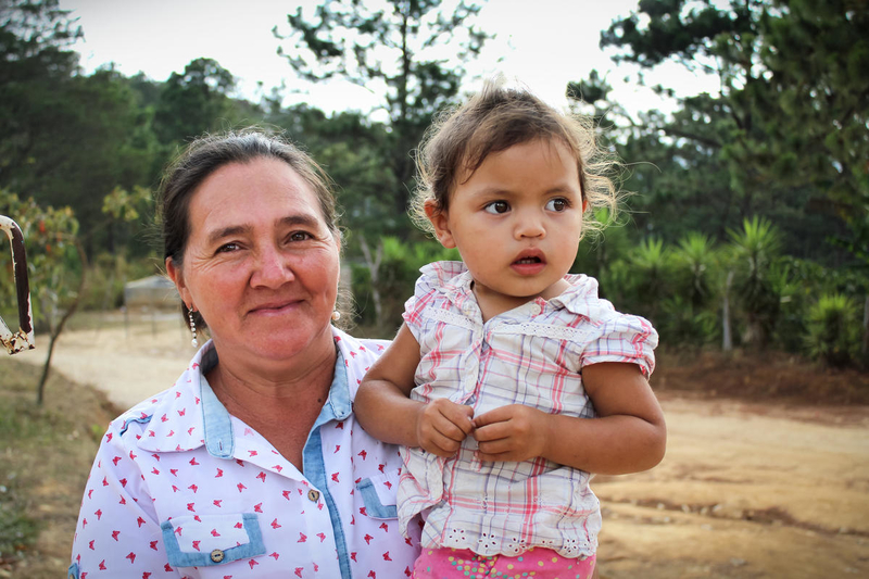 Grandmother and granddaughter in Honduras