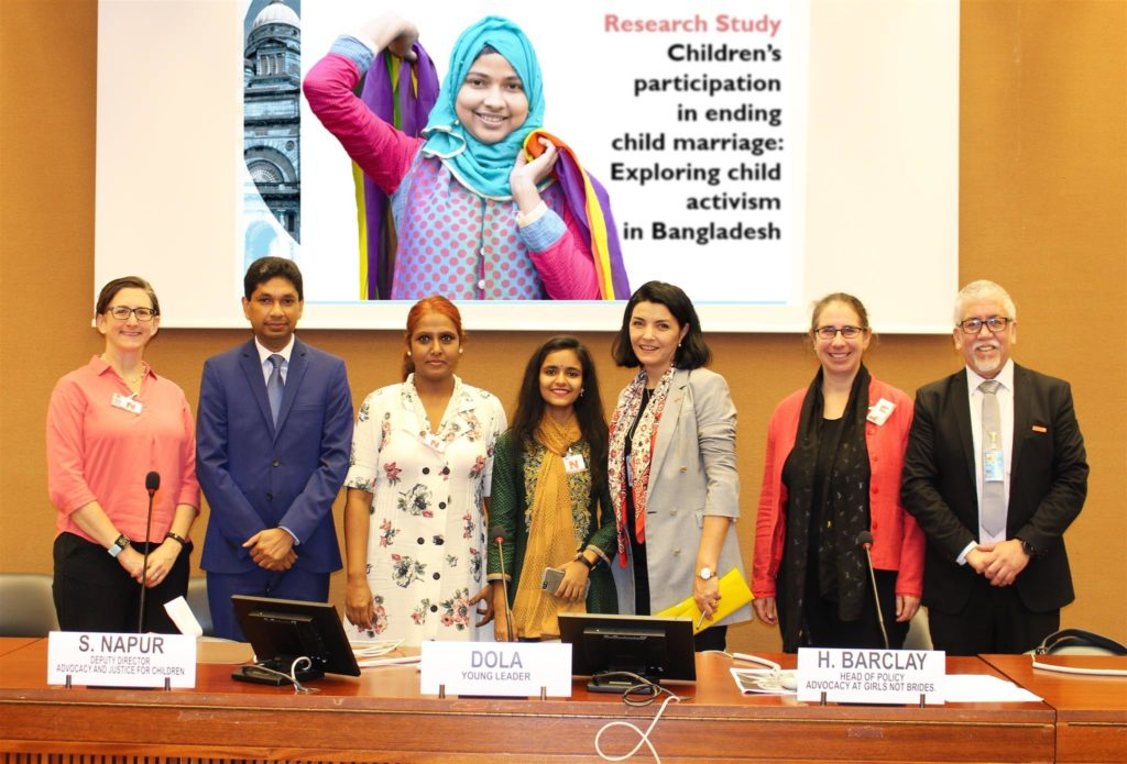 child marriage panel at United Nations