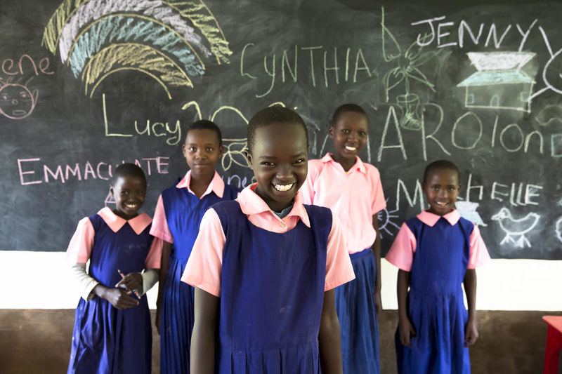 Girl students in Kenya