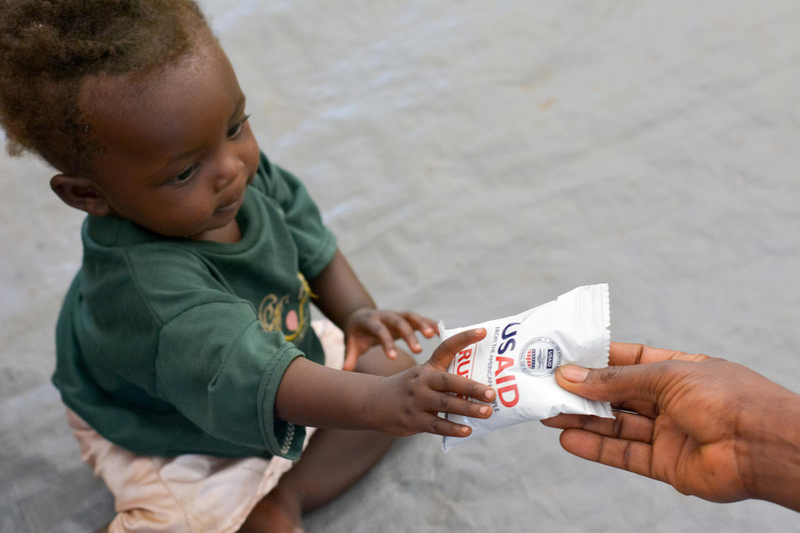 World Vision advocacy helps this baby access food