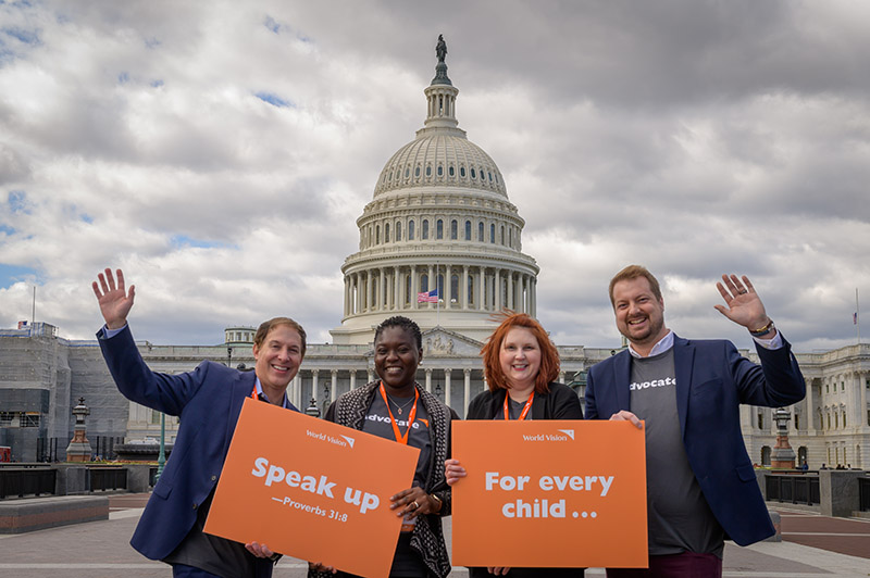 World Vision advocates at Capitol Hill!