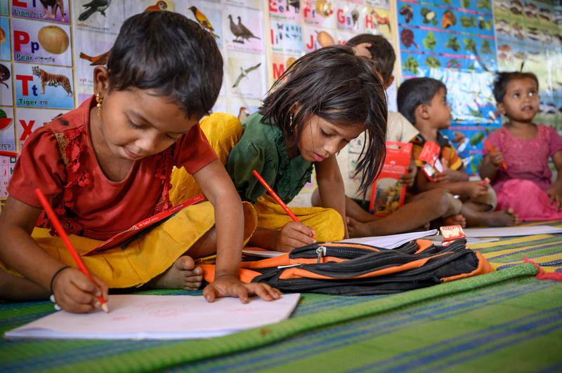 Refugee education for kids at Cox's bazaar