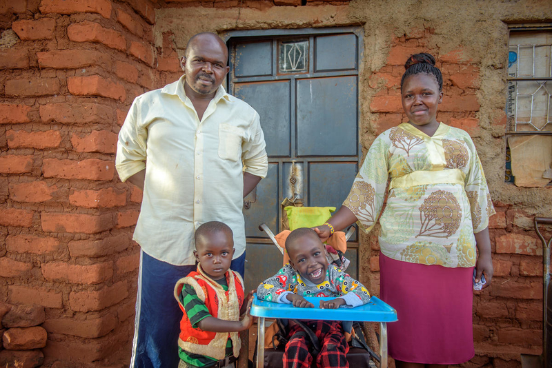 USAID helped World Vision get Dennis a wheelchair.