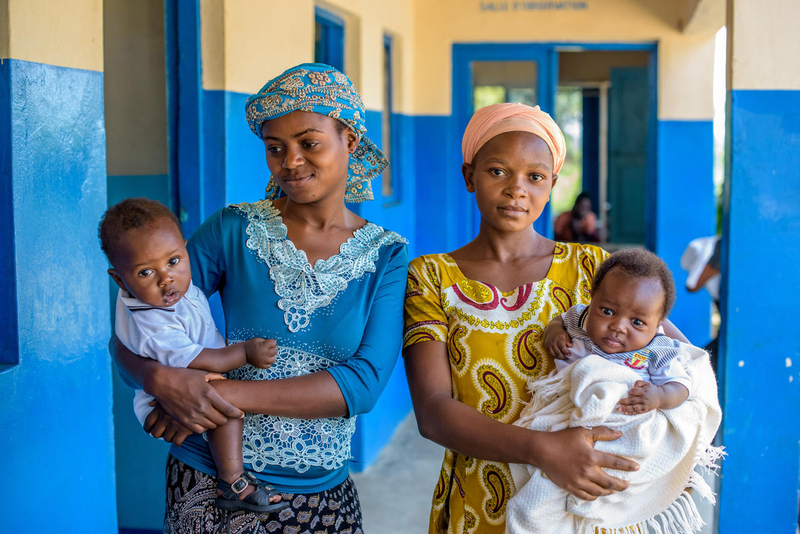 Maternal and child health supported by clinic in DRC