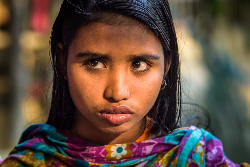 Girl learning about child marriage