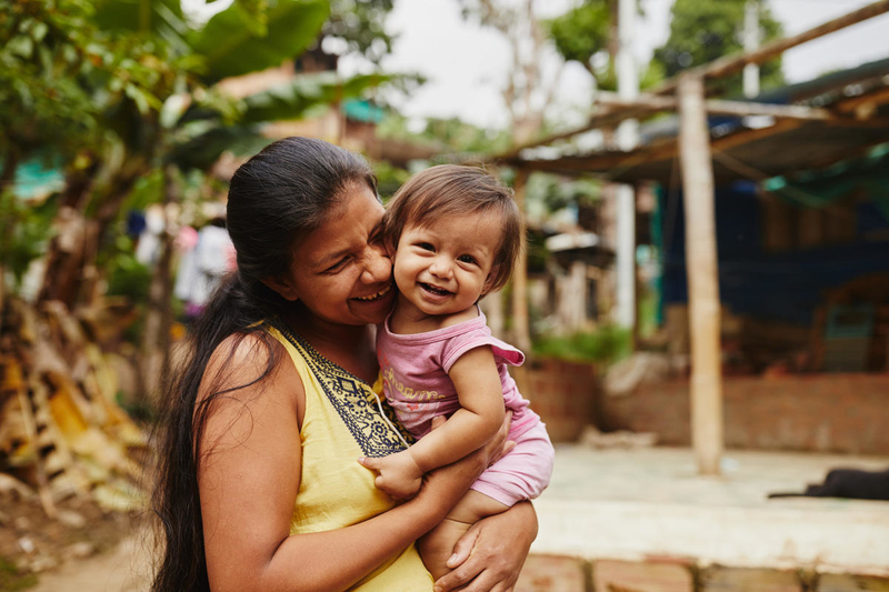 Mom and baby in Colombia