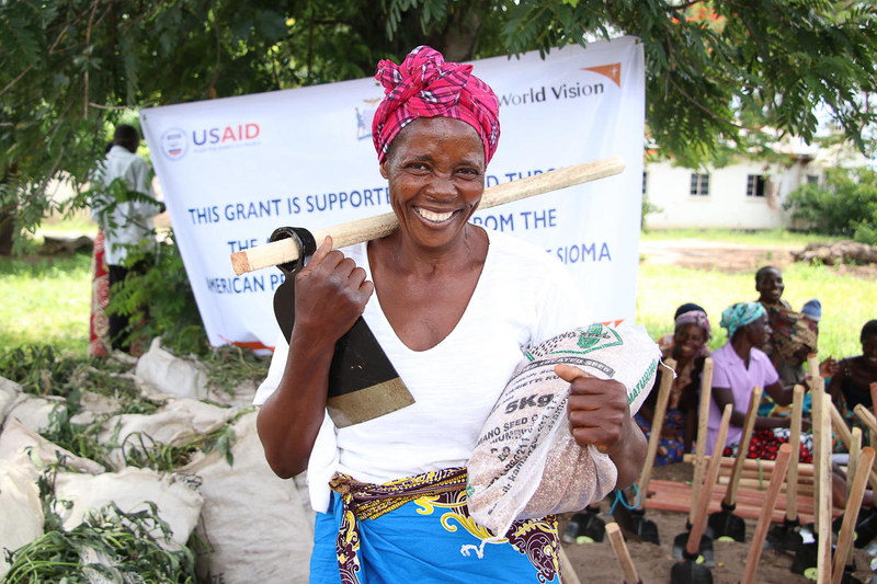 Woman supported by USAID