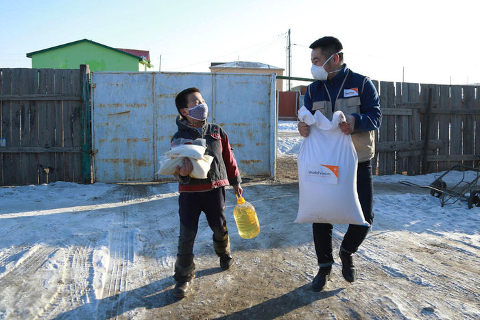 Supply distribution in Mongolia