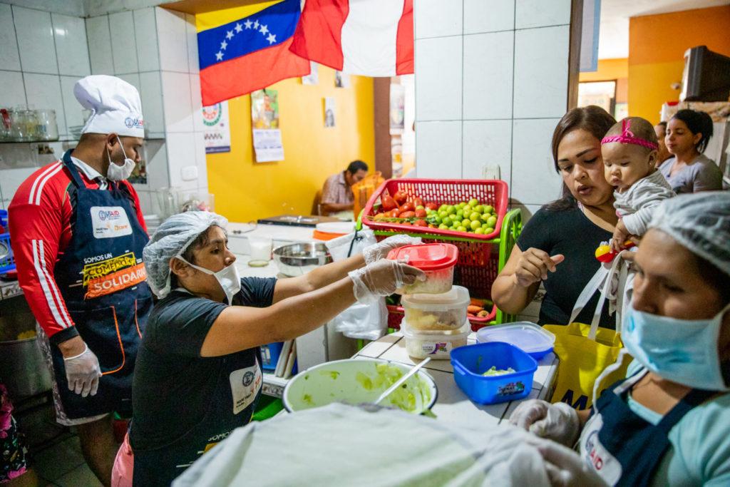Feeding center in Peru