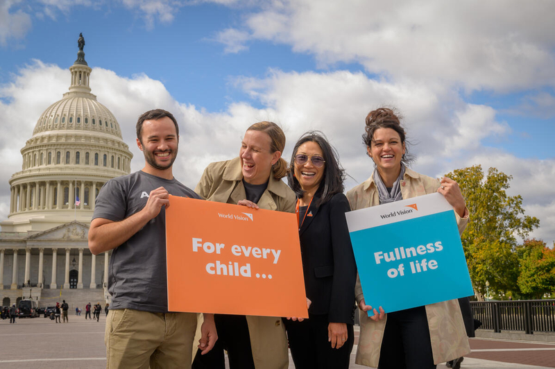 World Vision advocates pose for photo.