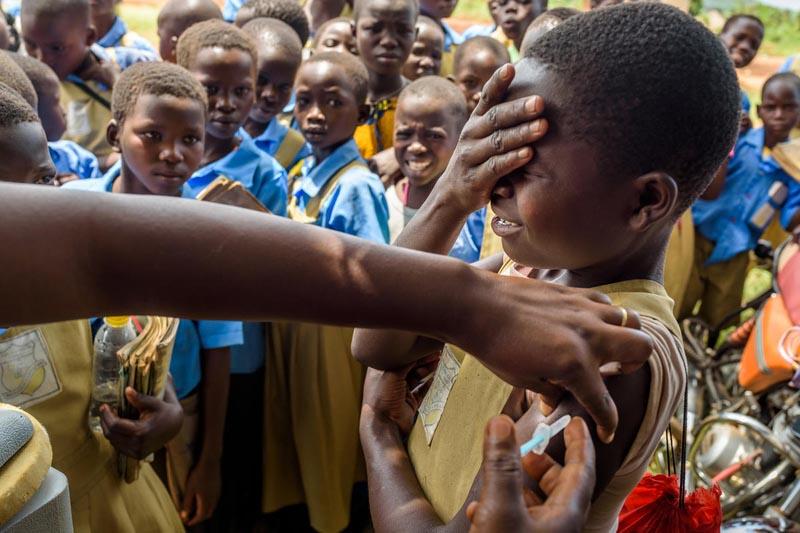Gavi helps provide vaccines to children in rural areas