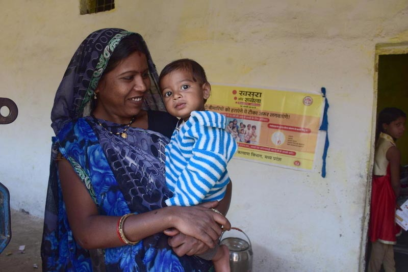 mother and child who received vaccine