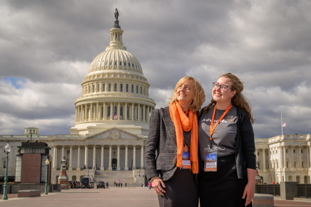 World Vision Advocates in front of U.S. Capitol building.